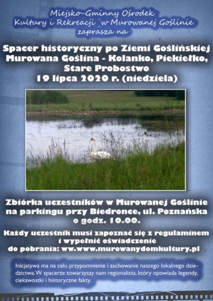 plakat Spacer historyczny po Ziemi Goślińskiej