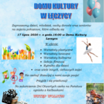 plakat Dni otwarte Domu Kultury w Łęczycy