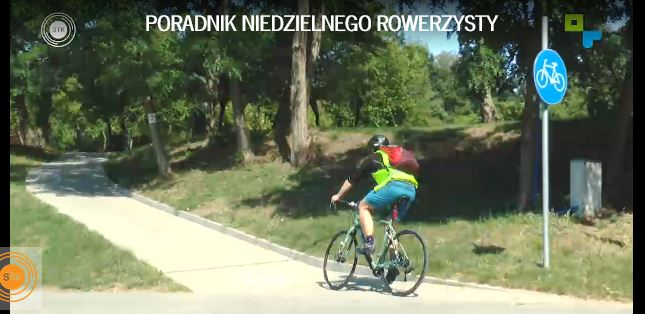 Rowerzysta na ścieżce rowerowej