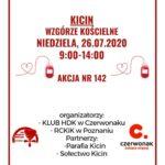 plakat akcja poboru krwi w kicinie