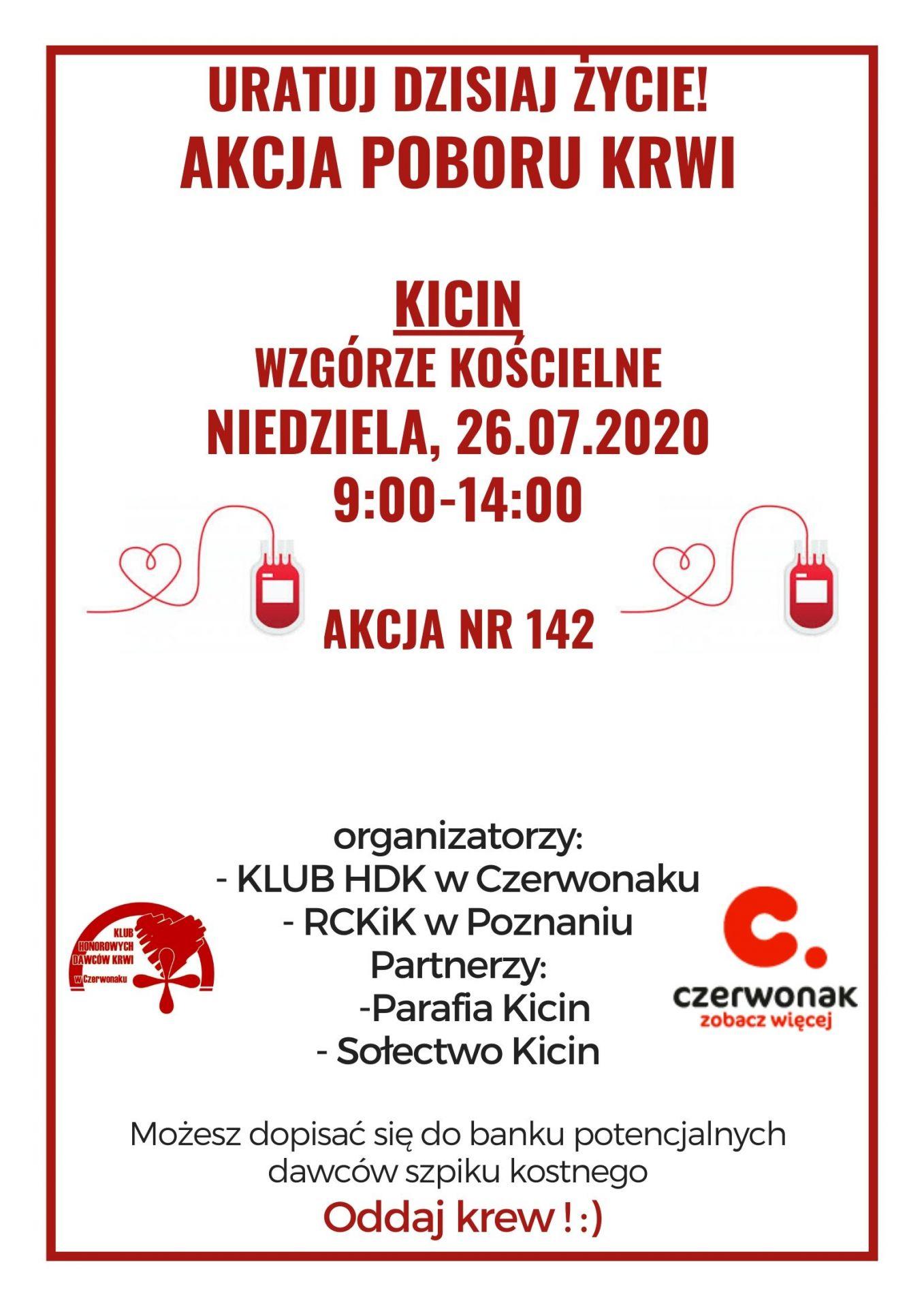Akcja poboru krwi w Kicinie