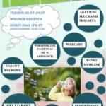 plakat Warsztaty wakacyjne dla dzieci w Łęczycy
