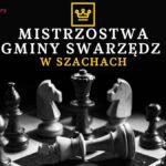 plakat mistrzostwa gminy swarzędz w szachach, grafika szachownica