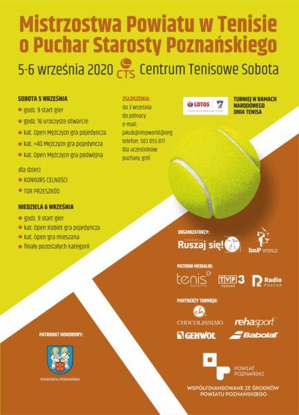 turniej o puchar starosty w tenisie
