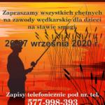 Plakat - Zawody wędkarskie - Młodzieżowa Szkółka Wędkarska Buk
