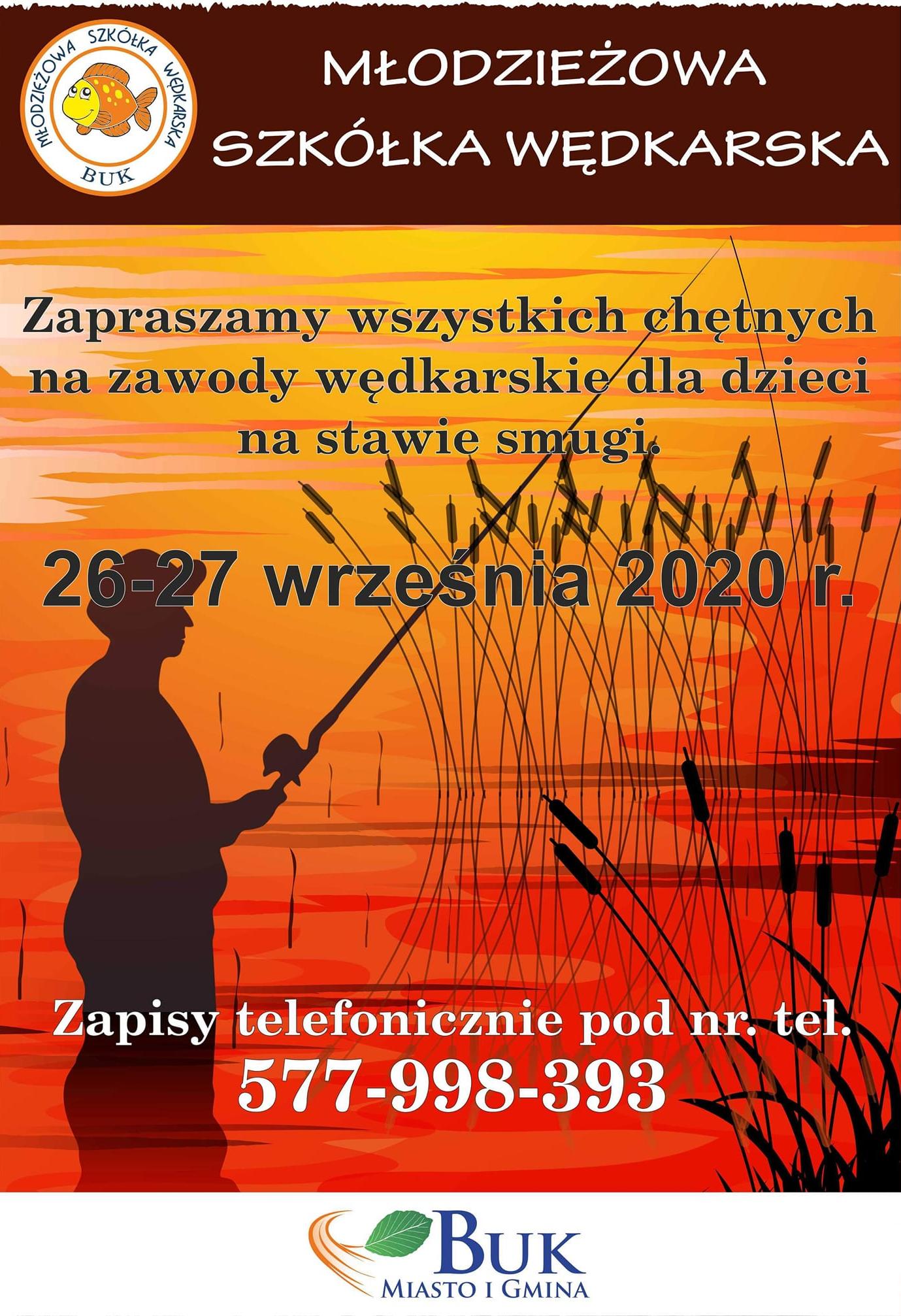 Zawody wędkarskie - Młodzieżowa Szkółka Wędkarska Buk