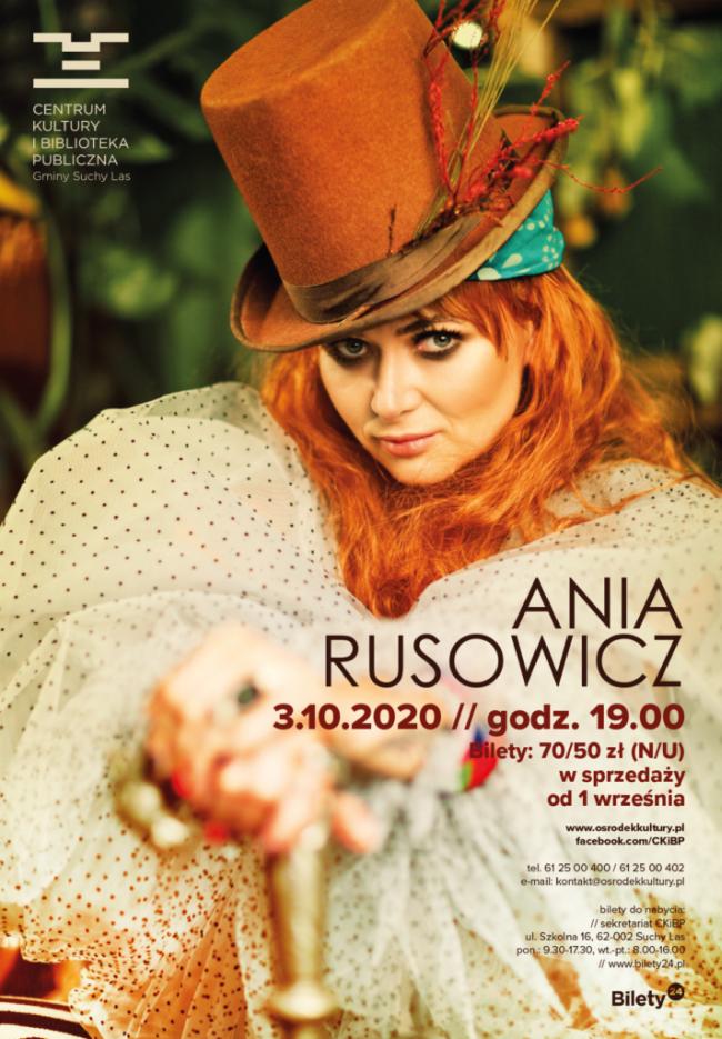 ania rusowicz koncert plakat