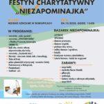 """Plakat - Festyn Charytatywny """"Niezapominajka"""""""