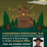 """Plakat - Grzegorz Wilk w koncercie """"Tam się wiedzie miłość"""""""