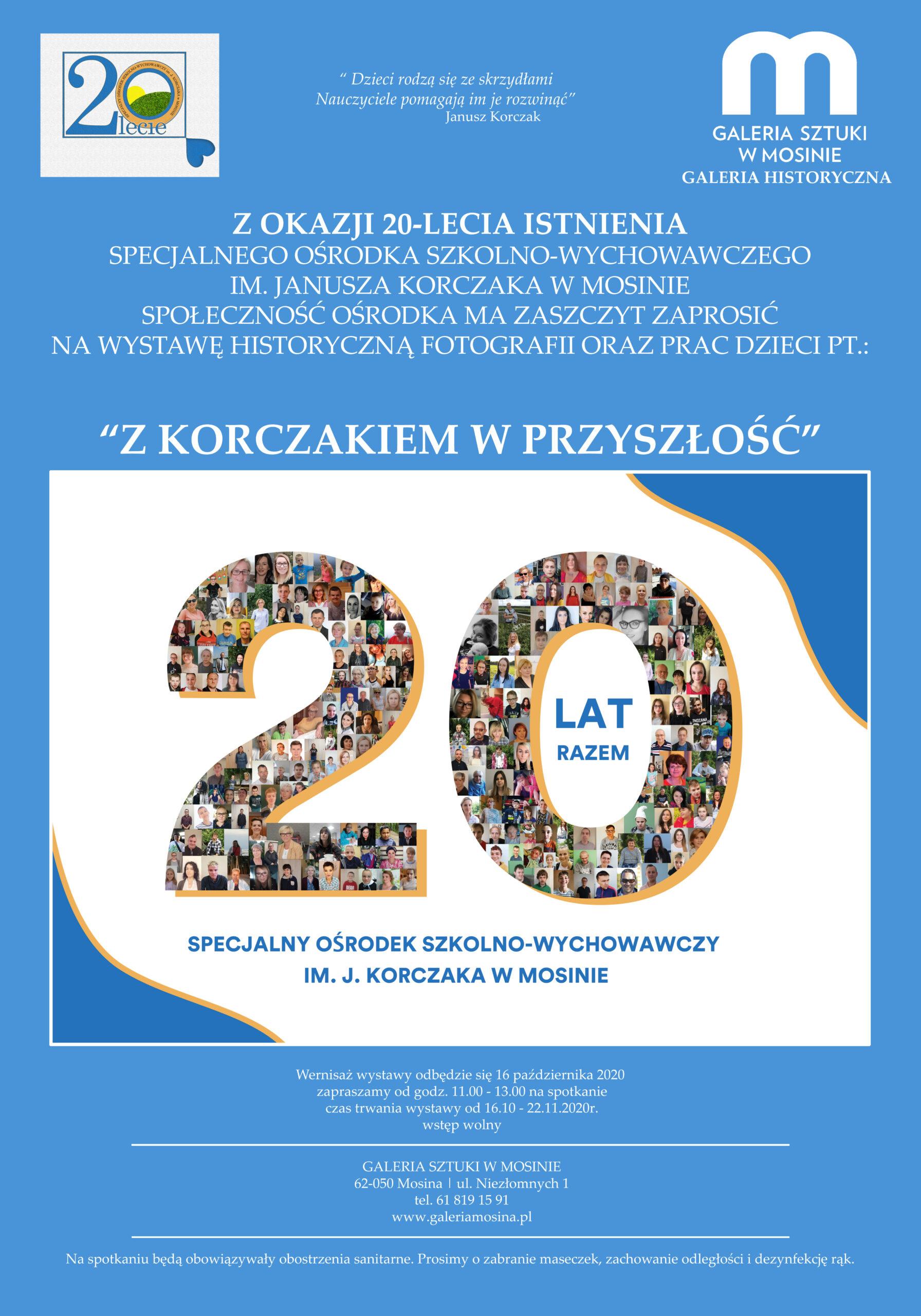 plakat z Korczakiem w przyszłość
