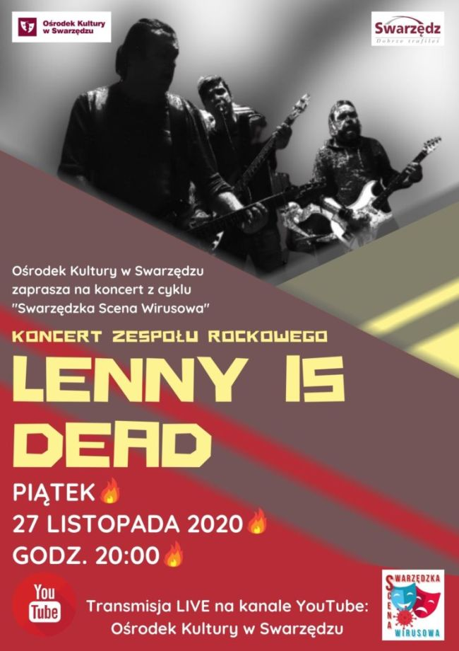 Lenny is dead koncert plakat