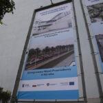 Banery unijne przed Starostwem