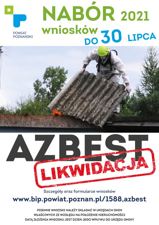 likwidacja azbestu plakat