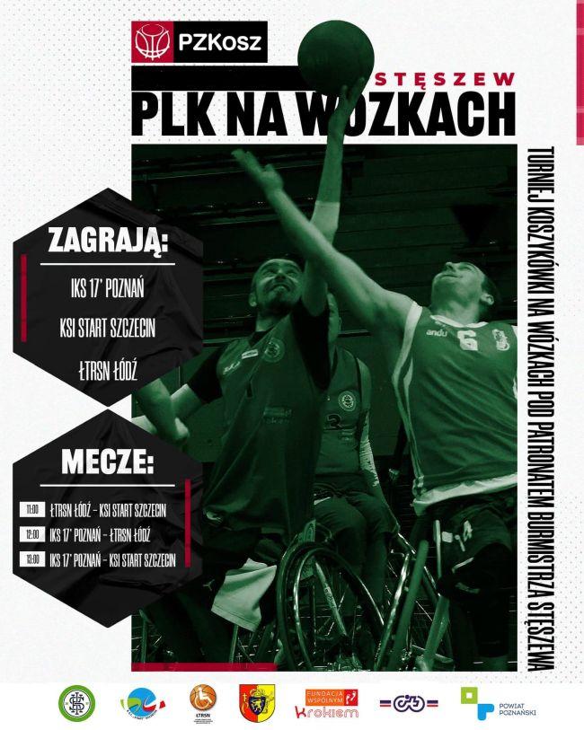 plakat turniej koszykówki na wózkach