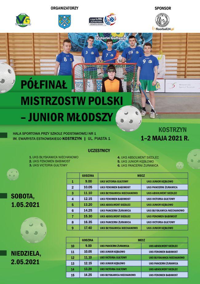 Plakat organizacyjny Półfinału B MP juniorów młodszych