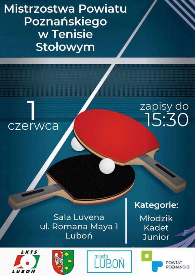 mistrzostwa w tenisie stołowym plakat