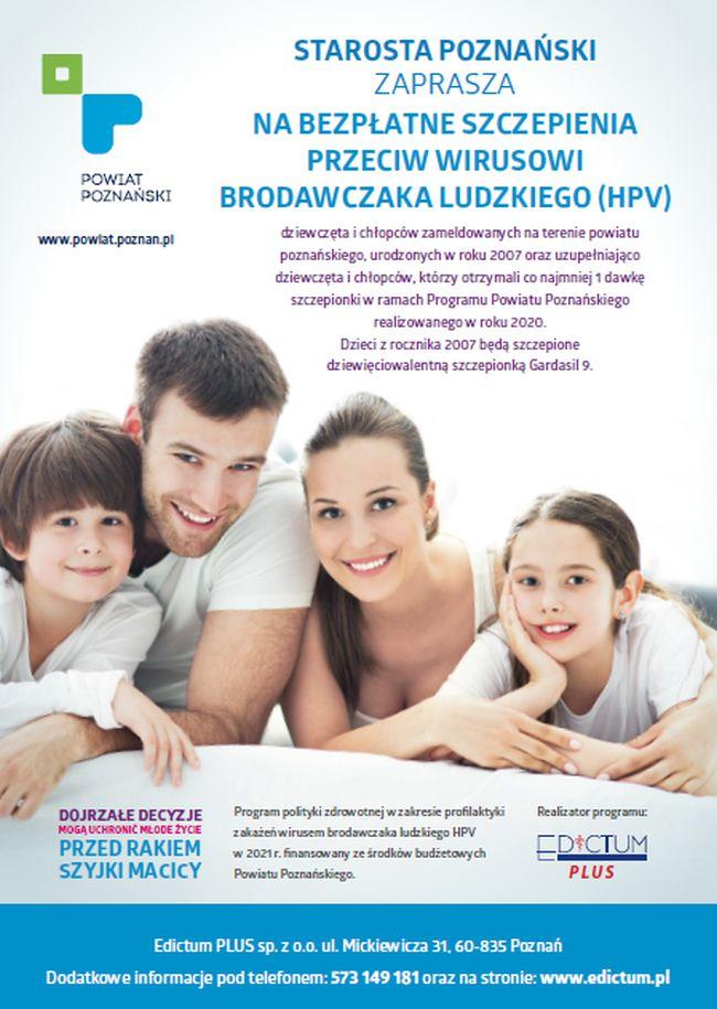 szczepienia hpv plakat