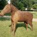 zdjęcie konia z wikliny