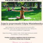 plakat joga w parku sokoła gmina BUK