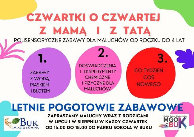 plakat czwartki o czwartej z mama i tata BUK