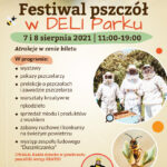 plakat festiwal pszczół w deli park
