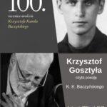 plakat poezja K.K. Baczyńskiego