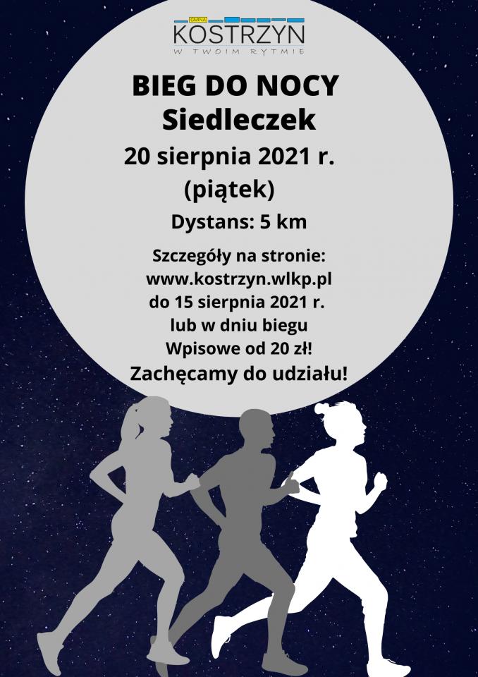 Afisz bieg do nocy Siedleczek