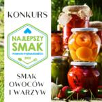 Afisz konkursu Smak owoców i warzyw