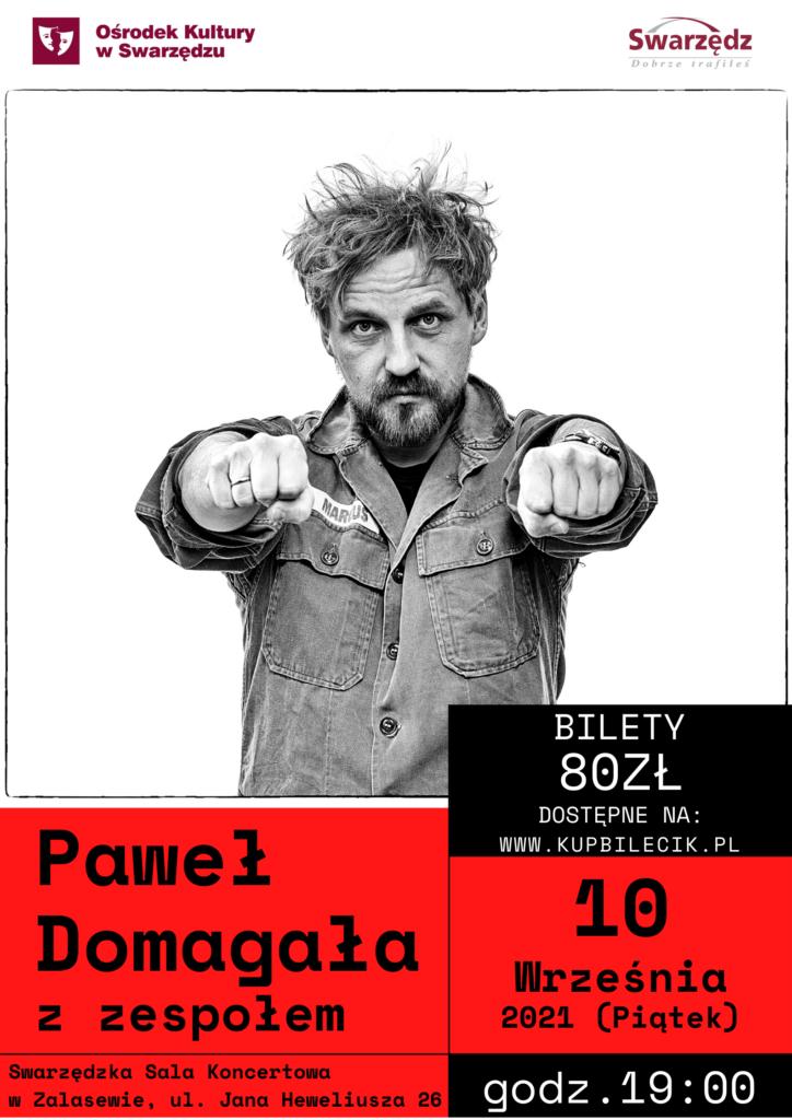 Afisz koncertu Paweł Domagała