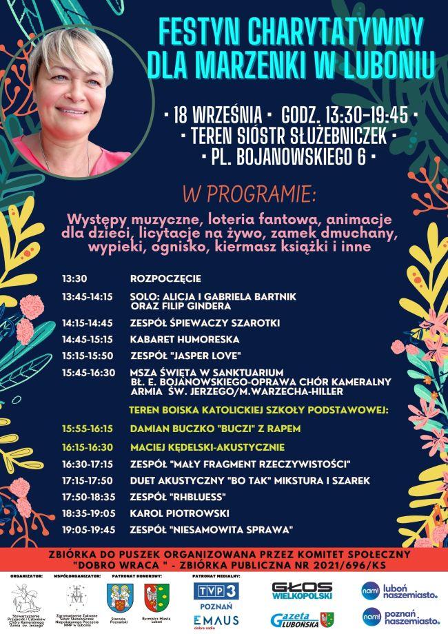 Festyn charytatywny dla Marzenki w Luboniu