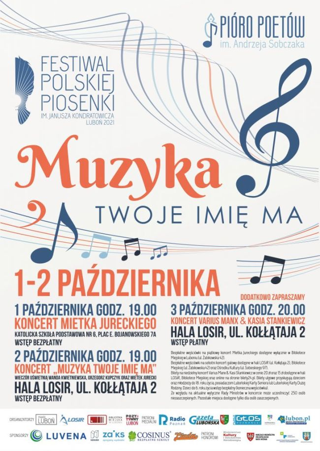 festiwal luboń plakat