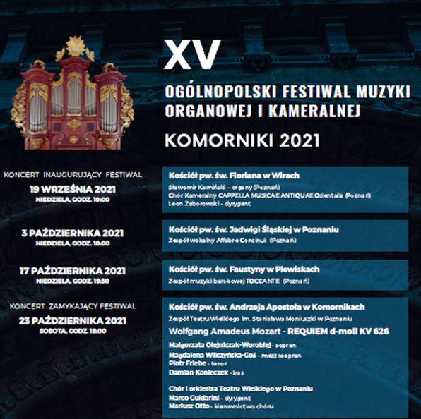 Ogólnopolski Festiwal Muzyki Organowej i Kameralnej plakat