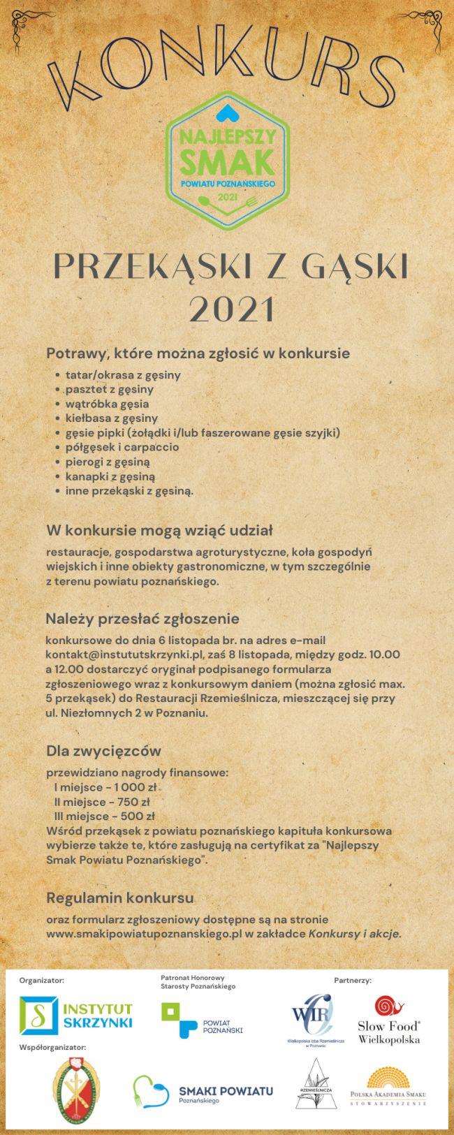 Konkurs Przekąski z gąski plakat